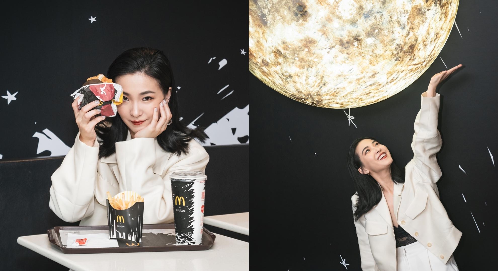 來這裡還不拍爆?「麥當勞 X APUJAN」期間限定極黑宇宙,黑魂控專屬打卡點這樣拍就對了!